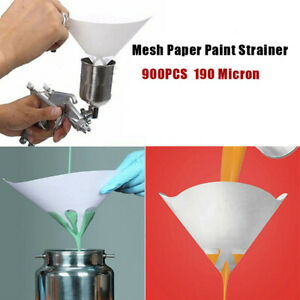 900x 190micron Nylon Conical Paper 100 Mesh Paint Strainers Filter Purifying Cup