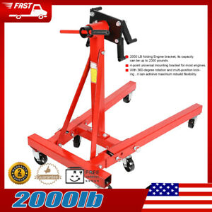 Universal 2000lb Heavy Duty Swivel Engine Hoist Mounting Satnd Bracket Folding