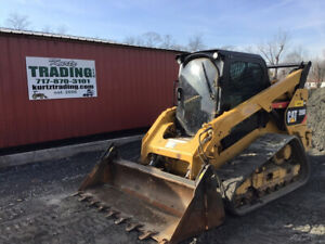 2016 Caterpillar 289d Compact Track Skid Steer Cab 2spd High Flow 4 1 Bucket