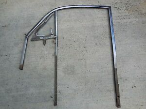 Porsche 356 B C Door Window Frame Vent Glass Right Passenger Side