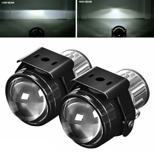 2x 2 5inch Bi xenon Fog Lights Projector Lens H11 Driving Lamps Car Retrofit Kit