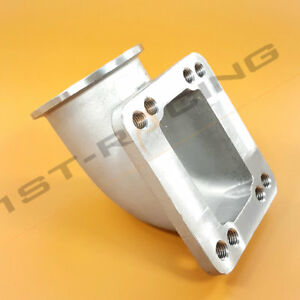 Stainless Steel T3 T4 To 3 V band Cast Turbo Elbow Adapter 90 Degree Elbow