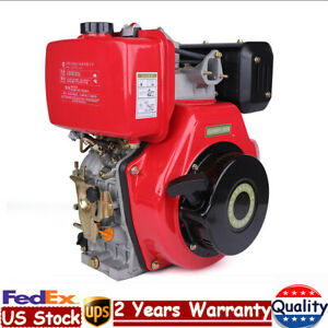 406cc 9hp 4 Stroke Diesel Oil Engine Single Cylinder 72 2mm Shaft Air Cooled Usa