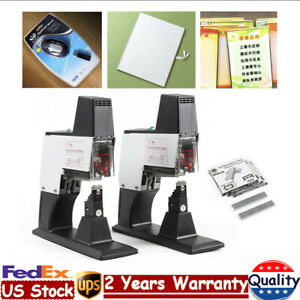 Electric Dual Head Stapler Deaktop Flat Saddle Binder Book Binding Machine 100mm