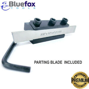Parting Tool Cut Off Holder 10mm Shank With Hss Blade 3 32 x1 2 x 4 For Lathe