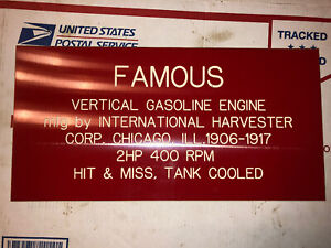 2hp Ihc Vertical Famous Sign Hit Miss Stationary Engine 1906 1917