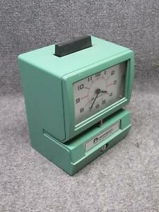Acroprint 125nr4 Time Recorder Tim Punch Clock no Keys tested