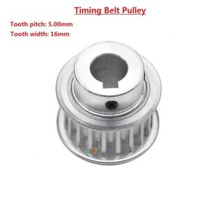 5m 15t 80t Timing Belt Pulley With Step keyway Bore 8 25mm for 15mm Width Belt
