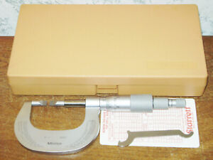Mitutoyo 0 1 Blade Micrometer No 122 151 W Case Thin Carbide Blades Lot1a