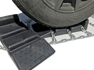 Snow Chains 35x12 5 16 Alloy Cam Tire Chains W sno Chain Ramps