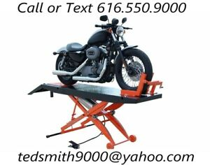 New Titan Deluxe 1 000 Lbs 24 Wide Motorcycle Lift With Front Wheel Vise