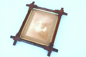 Wood Quality Old Vintage Picture Frame Antique Shabby Chic Carved Print Cupid Jg