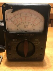 Triplett Model 630 Type 2 Voltage Tester W Manual Probes Case damage untested