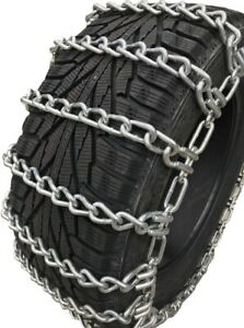 Snow Chains35x12 5 16 Alloy Two Link Tire Chains W sno Chain Ramps