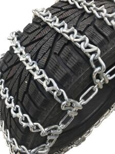 Snow Chains 35x12 5 16 Alloy Vbar Two Link Tire Chains W sno Chain Ramps