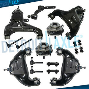 4wd 15pc Front Control Arms Wheel Hub Kit For Chevy Blazer S10 Gmc Jimmy Sonoma