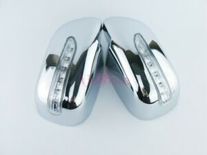 For Toyota Corolla 2008 2009 2010 Side Mirror Overlay Rear View Cover With Led