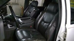 03 06 Chevy Avalanch truck Leather Bucket Seat Set left right Pewter Hot Rod