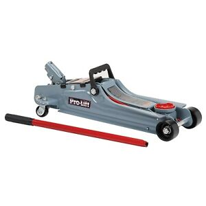 Pro Lift F 767 Grey Low Profile Floor Jack 2 Ton Capacity Brand