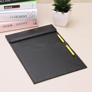 A business Office A4 Leather Files Paper Folder Writing Pad Tablet Drawing Board
