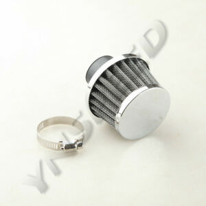 Universal 25mm 1 Turbo Vent Crankcase Breather Intake Air Filter Black