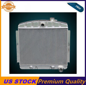 Kks 3 Rows aluminum radiator Fit 1955 56 57 chevy bel air 6cyl Core support