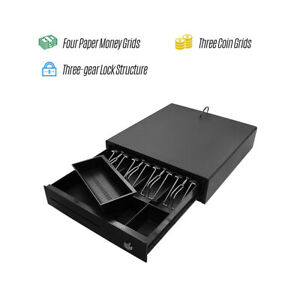 4 Bill 3 Coin Cash Register Drawer Box Works Compatible Tray Pos Printers Y7p7