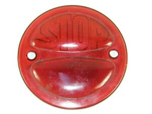 Vintage antique Red Glass Embossed Stop Light Lens Dodge Brothers Car Truck