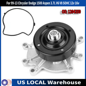 Engine Water Pump For 99 13 Chrysler Dodge 1500 Aspen 3 7l V6 V8 Sohc 12v 16v Us