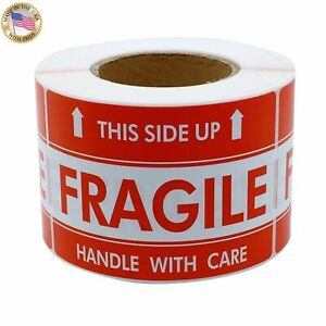 Labels 2x3 Fragile This Side Up Shipping Mailing Handle With Care Stickers Qs 01
