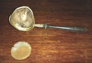 Vintage Sterling Silver Antique Paye Baker P B Sheffield Tea Strainer Spoon