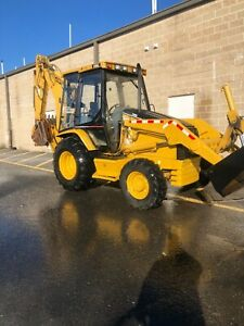 2002 Cat Backhoe 4x4 With 12 Pro Tech Pusher