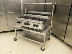Vulcan Vhp636u Gas 36 6 Burner Step Up Cooking Range With Equipment Stand