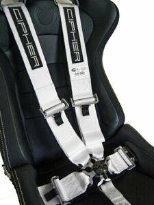 Cipher Auto 5 Point 5pt Racing Harness 3 Sfi 16 1 Camlock White New Exp 12 22