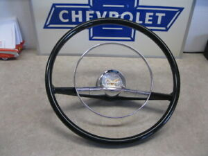 57 Chevy New Steering Wheel 15 With Horn Ring Cap 1957 Chevrolet 15 Inch