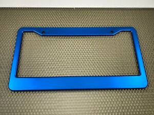 Blue Anodized Aluminum Standard License Plate Tag Frame