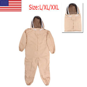 Thickened Beekeeping Coverall Suit Veil Bee Keeping Hat Pull Over Full Body Fda