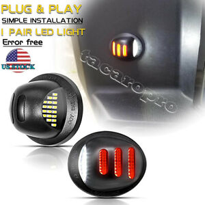 For 1999 2014 Ford F150 Raptor Red Neon Tube Led License Plate Tag Light Pair