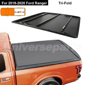3 Fold Soft Tonneau Cover Truck Bed For Ford Ranger 2019 2020 5ft Tri Fold