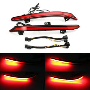Red Led Bumper Reflector Brake Tail Light Signal Drl For Honda Accord 2018 19