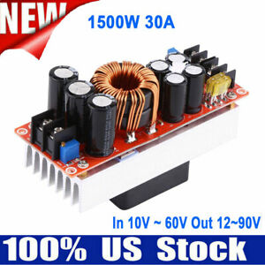30a 1500w Dc dc Boost Converter Step up Power Supply Module In 10 60v Out 12 90v