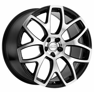 19x9 5 Coventry Ashford Gloss Black W Mirror Face Wheels 5x108 40mm Set Of 4