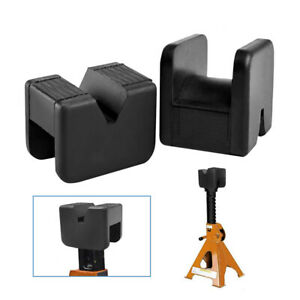 2 Pcs Jack Pad Adapter Rubber Jack Pads Slotted Frame Fit Jack Stand General