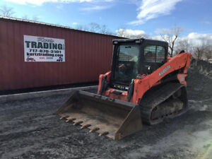 2013 Kubota Svl90 Compact Track Skid Steer Loader W Cab 2spd Only 2800hrs