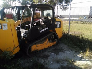 2014 Jcb 190t Compact Track Skid Steer Loader W Joysticks Only 1300 Hours