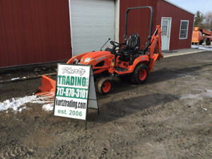 2016 Kubota Bx25d 4x4 Hydro Compact Tractor Loader Backhoe Only 500 Hours