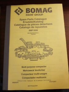 Bomag Bmp8500 Vibratory Roller Trench Compactor Parts Catalog Manual New