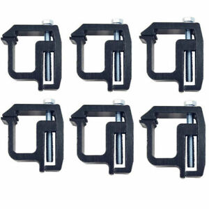 6 Sets mounting Clamps Truck Caps Camper Shell Powder coated For Chevy Silverado