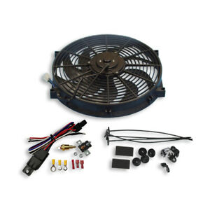 Universal 14 Radiator Electric Cooling Fan Curved Blade Reversible Thermostat