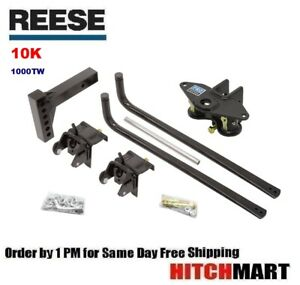 10k 1000 Tw Round Bar Weight Distribution Trailer Hitch System
